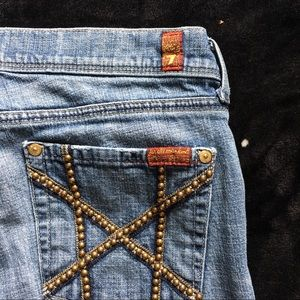 🛍Limited Edition 7 For All Mankind Studded Jeans